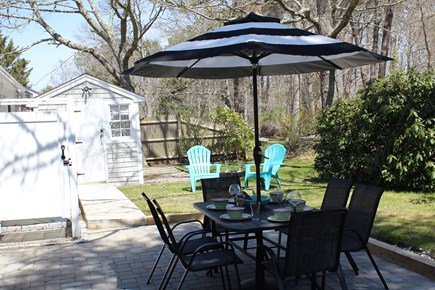 South Yarmouth Cape Cod vacation rental - Backyard Patio and Outdoor Shower