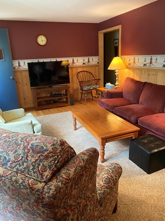Chatham Cape Cod vacation rental - Large living room with fire place