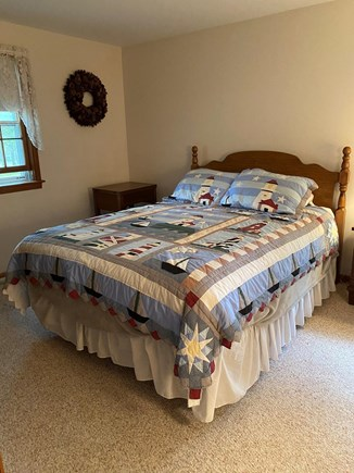 Chatham Cape Cod vacation rental - Master bedroom with A/C unit and cable TV