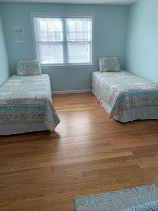 Falmouth Cape Cod vacation rental - Upstairs Guest Bedroom, 2 XL Twins and Queen