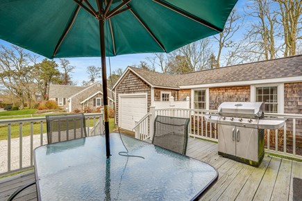 Chatham Cape Cod vacation rental - Back deck and grill