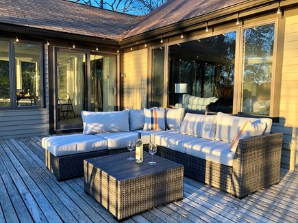 Brewster Cape Cod vacation rental - Enjoy the water view from the cozy deck furniture