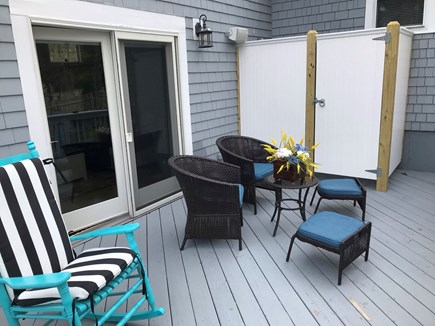 Mashpee Cape Cod vacation rental - Deck with outdoor shower