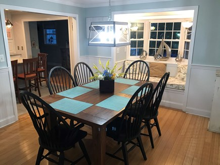 Mashpee Cape Cod vacation rental - Dining area seats 6 - has an additional bench
