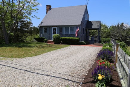 East Sandwich Cape Cod vacation rental - Front view of house and gardens