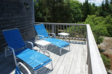 East Sandwich Cape Cod vacation rental - Relax in the sun on the deck overlooking Conservation lands.