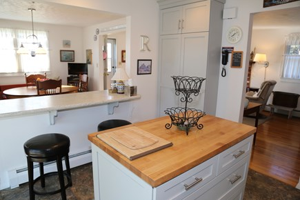 East Sandwich Cape Cod vacation rental - Bartop dining with stools on Kitchen side