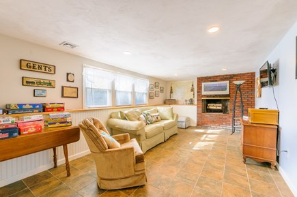 Sandwich Cape Cod vacation rental - Family Room on Lower level with TV