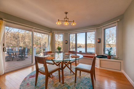 Sandwich Cape Cod vacation rental - Dining area off the Kitchen with waterviews