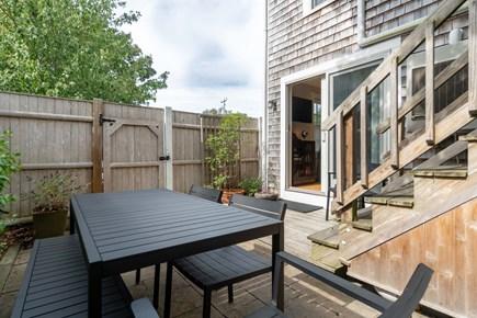 Provincetown Cape Cod vacation rental - Back patio off den