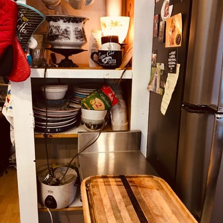 Provincetown Historic District Cape Cod vacation rental - Dishes, rice cooker, a wide variety of flatware.
