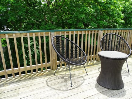 Provincetown Historic District Cape Cod vacation rental - Private upstairs deck overlooking garden. Nice for eating