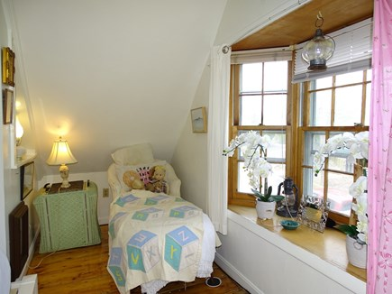 Provincetown Historic District Cape Cod vacation rental - Down filled chaise longue adjacent to Queen bed