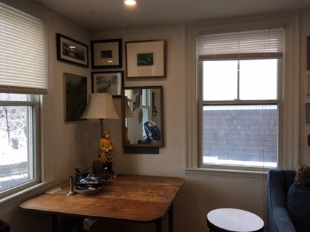 Provincetown Historic District Cape Cod vacation rental - Another perch,  French country antique table.