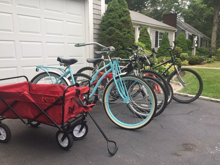 South Yarmouth Cape Cod vacation rental - Complimentary bikes, beach chairs, coolers, umbrellas, & wagon