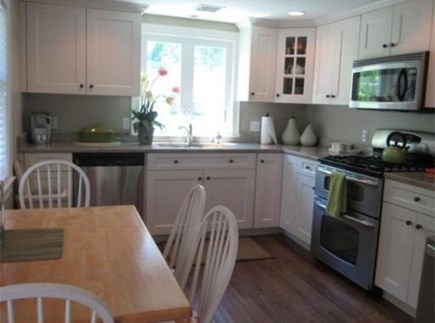 South Yarmouth Cape Cod vacation rental - Granite counters/updated SS appliances in fully stocked kitchen