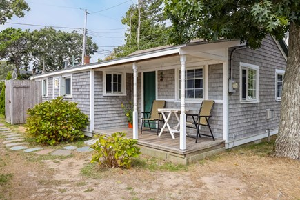 Harwichport Cape Cod vacation rental - Small deck and outdoor shower for after the beach.