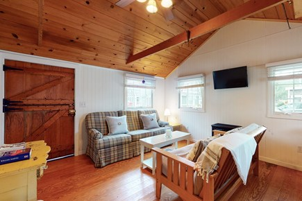 Harwichport Cape Cod vacation rental - Cozy propane stove for cool nights.