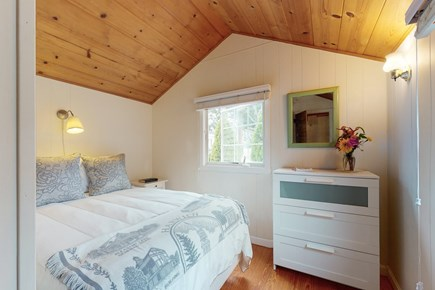 Harwichport Cape Cod vacation rental - Main bedroom, has closet and dresser for storage.