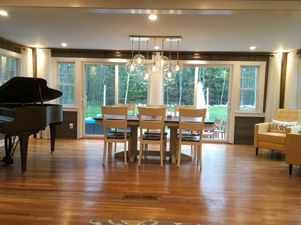 Cataumet, Scraggy Neck Cape Cod vacation rental - Dining room, access to back yard lounge
