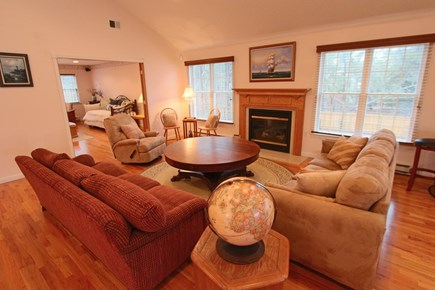 Truro Cape Cod vacation rental - Second Floor Living Area with Gas Fireplace