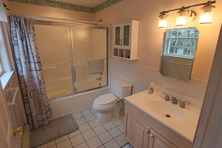 Truro Cape Cod vacation rental - Private Bathroom in Upstairs Bedroom with Shower and Tub