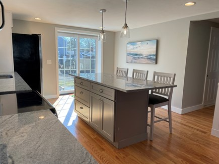 East Falmouth close to Washbur Cape Cod vacation rental - Out the sliding doors to the Backyard !!!