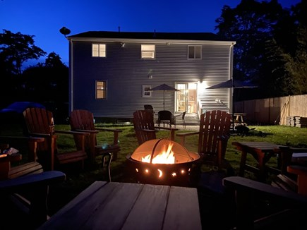 East Falmouth close to Washbur Cape Cod vacation rental - Fire Pit in backyard, Relax have a cold one !!!