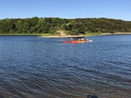 East Falmouth close to Washbur Cape Cod vacation rental - View of Washburn Island from Association beach