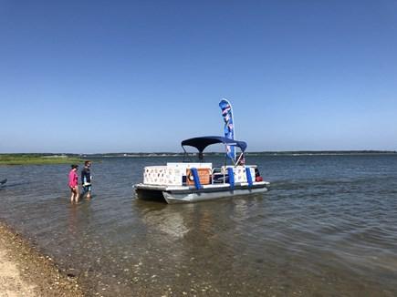 East Falmouth close to Washbur Cape Cod vacation rental - Ice cream boat visits Washburn