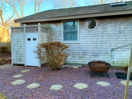 East Falmouth Cape Cod vacation rental - Outdoor shower and fire pit!