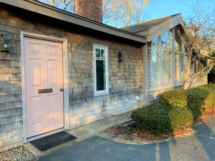 East Falmouth Cape Cod vacation rental - Front door welcoming you to our beach house!  Enjoy your stay!