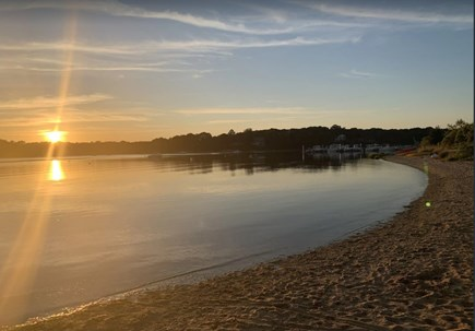 East Falmouth Cape Cod vacation rental - The beach at sunset