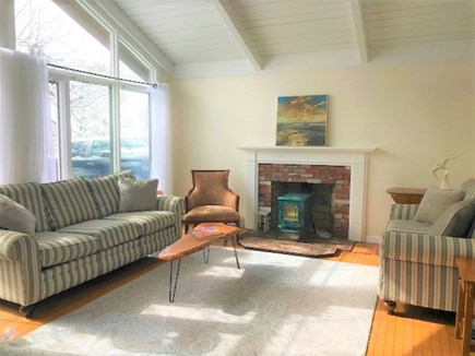 East Falmouth Cape Cod vacation rental - Light and bright living room.