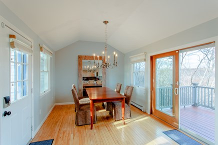 Truro Cape Cod vacation rental - Chic dining room with seating for your whole crew