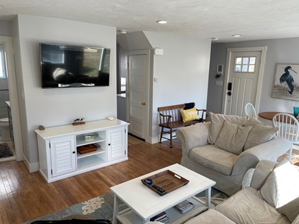 Falmouth, Maravista Cape Cod vacation rental - Living room has two sitter couch and over sized chair