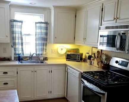 West Chatham Cape Cod vacation rental - Kitchen - looks out on the terrace.