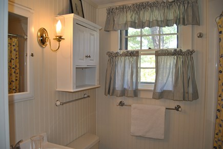 West Chatham Cape Cod vacation rental - This bathroom has a tub/shower.