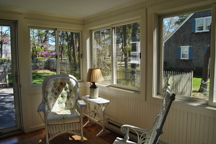 West Chatham Cape Cod vacation rental - Enclosed porch.  Between the terrace and the kitchen.