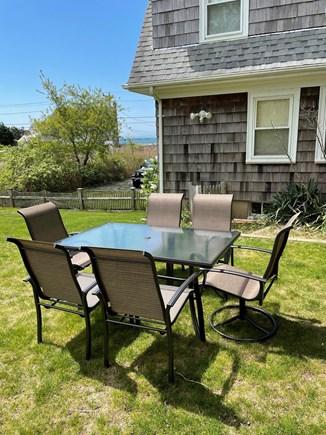 West Yarmouth Cape Cod vacation rental - Backyard dining w/views