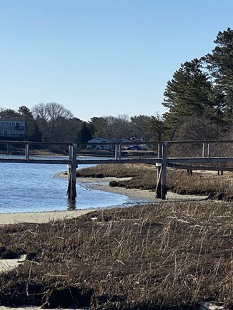 Bass River, West Dennis Cape Cod vacation rental - View of Town dock standing at the property's edge