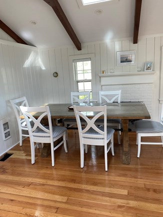 Bass River, West Dennis Cape Cod vacation rental - Rustic farmers table to add to the cottage's Cape Cod charm