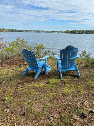 Bass River, West Dennis Cape Cod vacation rental - Our favorite spot for morning coffee overlooking the bluff