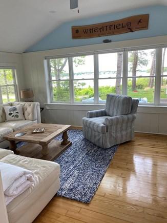 Bass River, West Dennis Cape Cod vacation rental - Entrance room; New sectional to arrive in June