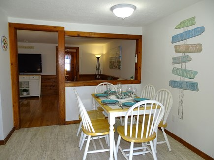 Yarmouth Cape Cod vacation rental - Dining area seats 6 – expands to kitchen