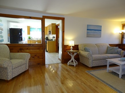 Yarmouth Cape Cod vacation rental - Living room view, facing opening to dining and kitchen