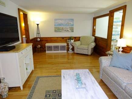 Yarmouth Cape Cod vacation rental - Spacious living room with hard wood floors, TV
