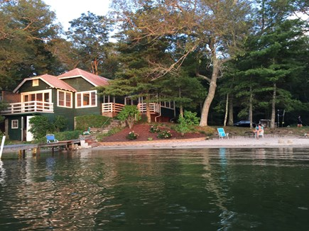 Wareham MA vacation rental - View of the house from the lake.