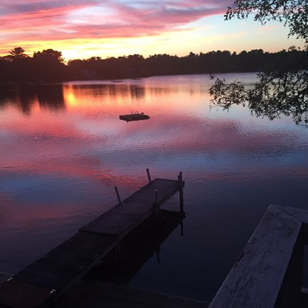 Wareham MA vacation rental - Beautiful sunsets from the beach and house.