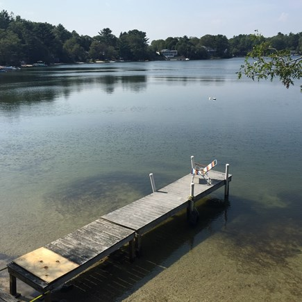 Wareham MA vacation rental - Pier and the lake.